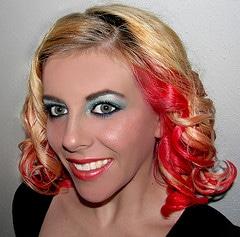 wild red hair dye self portrait 2