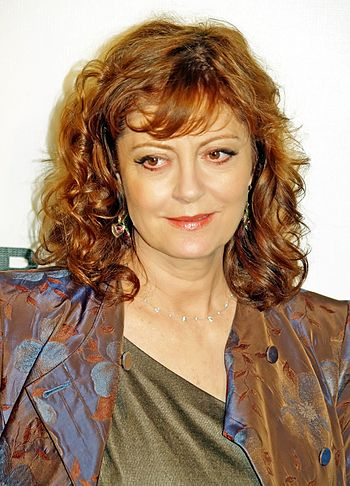 Susan Sarandon at the premiere of Speed Racer ...