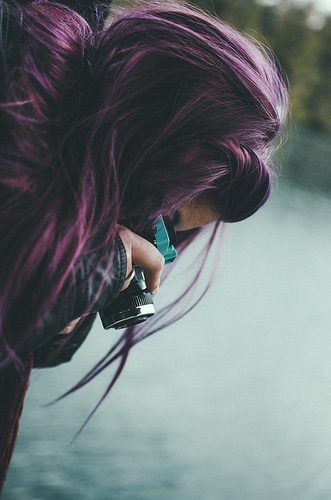 purple hair photo
